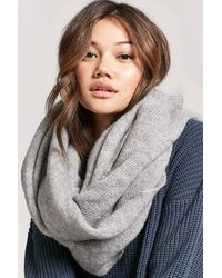 Forever 21 Oversized Knit Scarf , Heather Grey - Gray