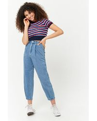 Forever 21 - Striped Open-knit Top - Lyst