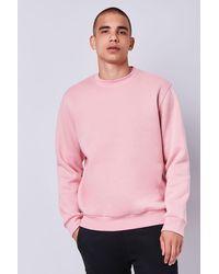Forever 21 Fleece Crew Neck Sweatshirt - Purple