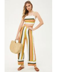 Forever 21 - Selfie Leslie Striped High-rise Trousers - Lyst