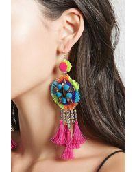 Forever 21 - Neon Tassel Drop Earrings - Lyst