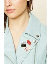 Forever 21 Movie Theater Pin Set - Multicolor