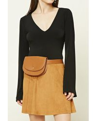 Forever 21 - Faux Leather Fanny Pack Belt - Lyst