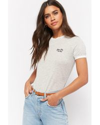Forever 21 - You, Me, & Oui Embroidered Graphic Ringer Tee - Lyst