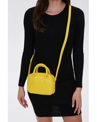 Forever 21 Twin Top Handle Crossbody Bag In Yellow