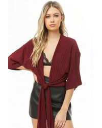 Forever 21 - Plunging Tie-front Top - Lyst