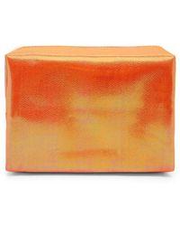 Forever 21 Iridescent Makeup Bag - Orange