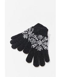 Forever 21 Fair Isle Print Gloves , Black