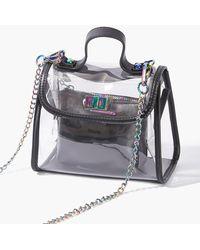 Forever 21 Transparent Flap-top Crossbody Bag - Black