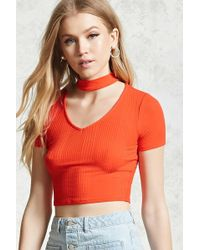 Forever 21 Crop top con fascia a girocollo - Multicolore