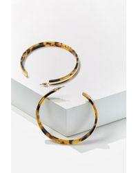 Forever 21 - Metal-trim Hoop Earrings , Gold/brown - Lyst