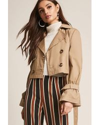 Forever 21 | Cropped Trench Coat | Lyst