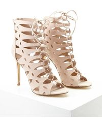 Forever 21 | Caged Faux Suede Heels | Lyst