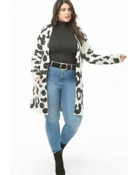 Forever 21 - Women's Plus Size Loop-knit Cow Print Cardigan Jumper - Lyst