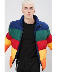 Forever 21 - Multicolour Colorblock Puffer Jacket - Lyst
