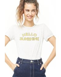 fe7a4983c7b92 Forever 21 - Burnout Hello Sunshine Graphic Top - Lyst