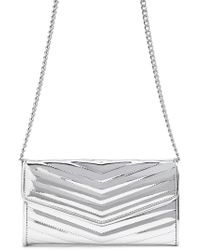 Forever 21 - Metallic Chevron Quilted Bag , Silver - Lyst