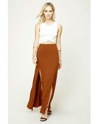 b67fcd6849fb Forever 21 - Women s Contemporary Maxi Skirt - Lyst