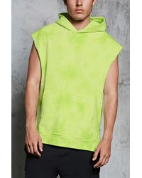 Forever 21 Felpa smanicata tie-dye - Verde