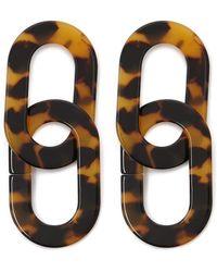 Forever 21 Tortoiseshell Drop Earrings , Brown/black - Multicolour