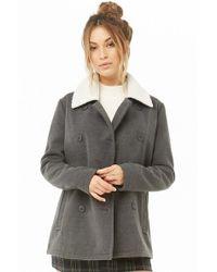 58696cc92 Women's Forever 21 Coats - Lyst