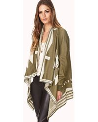 Forever 21 | On The Range Open-Front Cardigan | Lyst