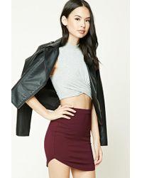 Forever 21 - Dolphin Hem Mini Skirt - Lyst