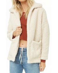 Forever 21 - Open-front Faux Shearling Coat - Lyst