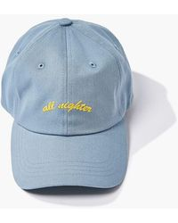 Forever 21 All Nighter Embroidered Dad Cap - Blue