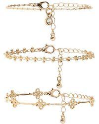 Forever 21 - Ornate Chain Bracelet Set - Lyst