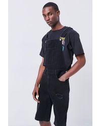Forever 21 Denim Overall Shorts - Black