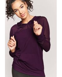Forever 21 - Active Mesh-panel Hoodie - Lyst