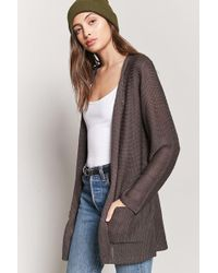 Forever 21 | Purl Knit Open-front Cardigan | Lyst