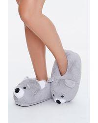 Forever 21 Bear Indoor Slippers - Gray