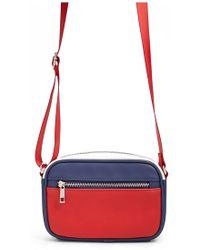 Forever 21 Colorblock Crossbody Bag , Red/multi