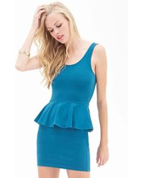 Forever 21 | Classic Peplum Dress | Lyst