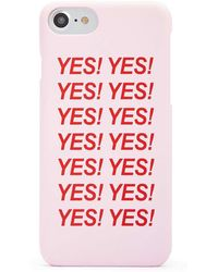Forever 21 Yes Graphic Case For Iphone 6/7/8 - Pink