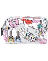 Forever 21 Graphic Clear Makeup Bag - Multicolor