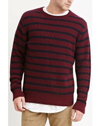 Forever 21 - Striped Cotton-blend Sweater - Lyst
