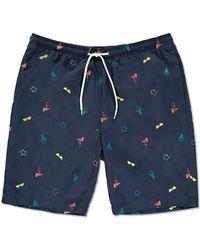 Forever 21 - Summer Graphics Embroidered Swim Trunks - Lyst