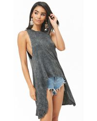 Forever 21 - Mineral Wash High-low Top - Lyst