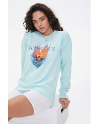 Forever 21 Journey Fleece Sweatshirt - Blue