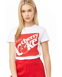 53ee6b47a Forever 21 - Enjoy Cherry Coke Graphic Tee - Lyst