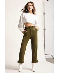 Forever 21 - Shirred Ruffle Trousers - Lyst