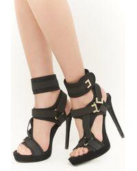 9a16874b0da8f Forever 21 Shoe Republic Strappy Stiletto Heels , Black