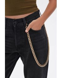 Forever 21 Wallet Curb Chain - Metallic