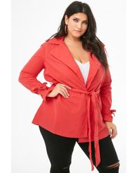 Forever 21 - Plus Size Collared Wrap Jacket - Lyst