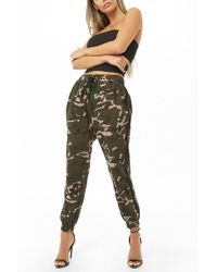 Forever 21 - Camo Drawstring Joggers - Lyst