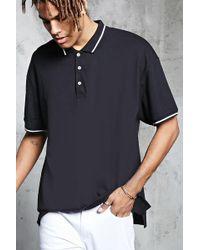 Forever 21 - Stripe Trim Polo Shirt - Lyst