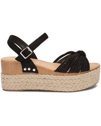 7bdc8260ad5 Forever 21 Faux Leather & Straw Espadrille Wedges , Ivory in White ...
